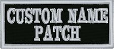 "2 line Custom 3.5"" Name Tag Patch Motorcycle Biker"
