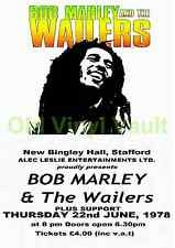 Bob Marley & The Wailers concert poster New Bingley Hall 1978 repro
