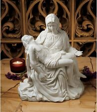 MICHELANGELO'S BONDED MARBLE SPIRITUAL JESUS MARY SCULPTURE FIGURINE HOME DECOR
