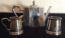 Antique English Silver Plate Tea Set - Ornate