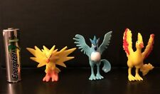 1st Generation pokemon plastic figure set of Articuno Zapdos Moltres 1-2 Inches