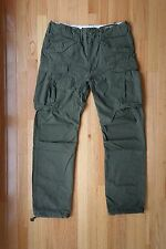 New RRL Double Ralph Lauren Military Olive Green Cargo Pants W33 L32 polo