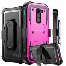 REFINED ARMOR COVER PHONE CASE & SWIVEL HOLSTER FOR LG G STYLO 2 PLUS +BUNDLE