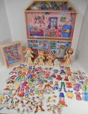 T.S. Shure Daisy Girls Wooden Dollhouse Dolls Magnetic Clothes & Accessories