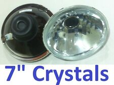 "1pr 7"" Crystal Beam Headlights Lights Semi Sealed All Rounders"