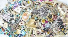 Huge vintage jewelry lot pounds lbs signed rhinestones necklaces bracelets rings
