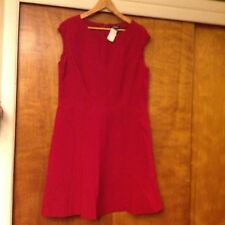 Chaps Womens Textured Sheath Red Dress Size 16