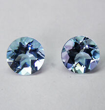AQUAMARINE MATCHING PAIR 2.21ct! NATURAL EXPERTLY FACETED IN GERMANY +CERT