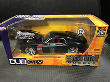 Jada Bigtime Muscle Dub City 1970 Boss 429 Mustang-Black 1:24 Scale Diecast 2004