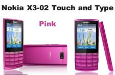 Brand New Nokia X3-02 Pink Touch & Type 3G Unlocked Mobile Phone Complete Box