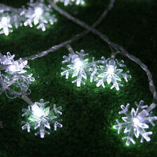 Best Snowflake Solar 5M 20LED Fairy String Lights Christmas Outdoor Party New