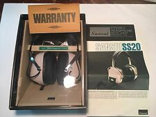 Vintage 1970s SANSUI SS-20 Over Ear Headphones 2 way 4 speaker w box Never Used
