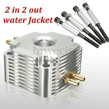 Aluminum Water Jacket 2 In 2 out For 26CC Zenoah Engine - Silver RC Boat New