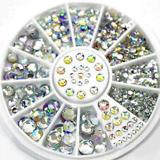 6 Size 300Pc Rhinestone Decoration AB Nail Art DIY 3D Glitter DIAMANTE CRYSTAL