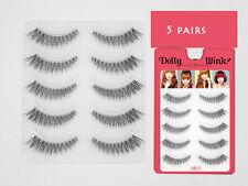 HOT 5 pairs Japan Handmade Natural short Cross False fake eyelashes eye lashes