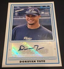 DONOVAN TATE 2010 Bowman Baseball AUTOGRAPH Pack Pulled ROOKIE Card SP Padres