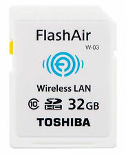 Toshiba Flash Air Wifi / Wireless SD Memory Card W03 - 32GB
