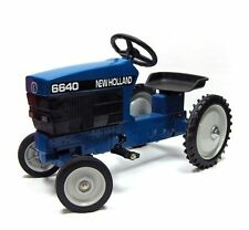 New Holland 6640 Wide Front Diecast Pedal Tractor by ERTL NIB!