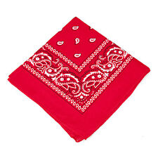 Paisley Pattern 100% Cotton Bandana - Neck Scarf / Head Band / Neckerchief