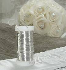 10 m Draht (0,10 €/m) Blumendraht Dekodraht  Myrtendraht  Floristendraht silber