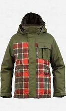 Burton Boys Sludge Snowboard Jacket (L) Keef Revolt Plaid