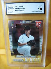 WEI-YIN CHEN ORIOLES 2012 PRIZM ROOKIE RC # 153 GRADED 10