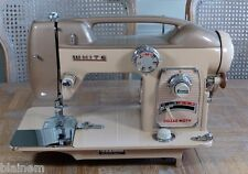 Vintage White 764 Fair Lady Sewing Machine an Atomic Age Classic Untested As-Is