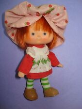 Vtg American Greeting 80s Strawberry Shortcake DOLL & CLOTHES Lot FLAT HANDS