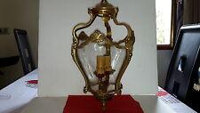 Lustre lanterne bombée et 2 appliques style LOUIS XV -en bronze- parfait état