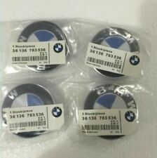 4 Pcs Genuine BMW Emblem Logo Badge Hub Wheel Rim Center Cap 68mm Set of 4 grey