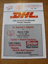 01/04/1990 St Patricks Athletic v Derry City  (No obvious faults)