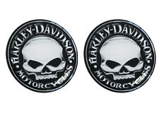 2x 4cm HARLEY 3D DOMED STICKERS DECAL BADGE CAR TUNING MOTORCYCLE SKULL BIKE