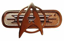 "Star Trek Movie Federation Uniform Chest Insignia Deluxe 3"" Wide PIN"