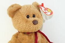 Ty Beanie Baby CURLY BEAR 1996 with Tag Errors Plush Toy Animal RARE NEW RETIRED