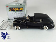 1/43 BROOKLIN BML 04 CADILLAC SERIE 75 FLEETWOOD TOWN CAR 1938 BLACK