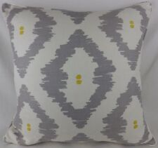 """John Lewis Patagonia Pillow Cushion Cover Piped Large 22""""  Yellow grey Linen"""