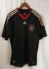 GERMANY FOOTBALL JERSEY 2010/2011 AWAY KiT - LARGE Adidas/Shirt/Deutscher/black