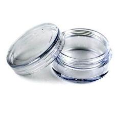 50x petite boîte pot vide en plastique clair pour échantillon de cosmétiques