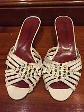 Vintage Yves Saint Laurent White Sandals Size 9 1/2