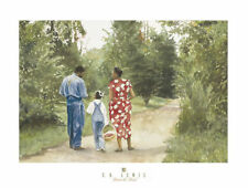 AFRICAN AMERICAN ART PRINT - Down the Road by E B Lewis