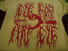 Deluxe Eye For an Eye Tooth For a Tooth T Shirt Sz. XL Metal Gore art