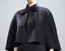 Prabal Gurung Women's Cape Poncho Sequin Neiman Marcus Target Black Wool Shawl