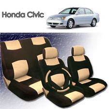2001 2002 2003 2004 For Honda Civic PU Leather Seat Cover