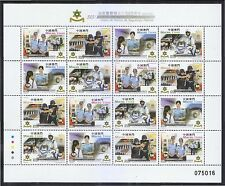 MACAU CHINA 2016 325TH ANNIV. OF PUBLIC POLICE FORCE FULL SHEET 16 STAMPS MINT