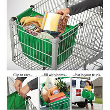 Home Green Shopping Pro Bag Foldable Tote Reusable Washable Grab Container New