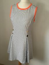Ted Baker Striped Black White Dress TB 3 12-14