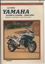 Service Manual for Yamaha FJ1100 and FJ1200, 1984-1993 by Clymer