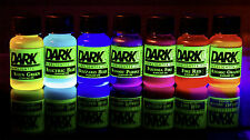 Blacklight GLOW Liquid Watercolor Paint, Ink, Dye (7 Color Set) Neon Fluorescent
