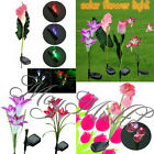 Lily/Calla/Tulip Solar LED Color Changing Flower Garden Path Light Lawn Lamp J