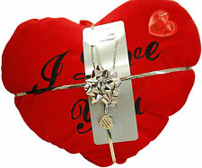 'If I Choose Again'..Pendant & Red Heart Cushion Valentines Day Gift Set for Her